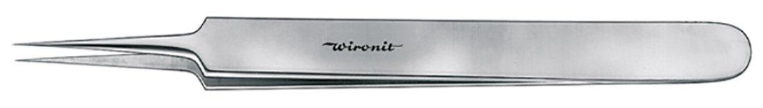 Pinzette, punte diritte-piegate, presa piatta, Wironit