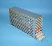 Rack orizzontale in acciaio inox, per piastre Microtiter