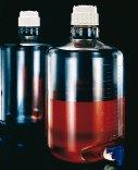 Bottiglioni in PC, forma cilindrica, tappo e rubinetto