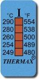 Strisce Thermax rileva temperatura 5 punti.