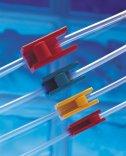 Stringitubi in plastica, Keck con rotella, colorati