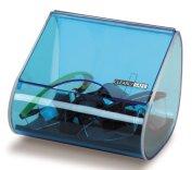 Cassetta dispenser porta occhiali, trasparente, fissaggio a parete