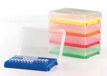 96-Well PCR® Tube Racks, in PP,  per  provette singole o strips da 8 o 12