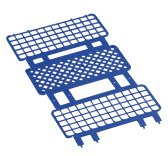 Portaprovette Fold & Snap, in PP, piega e blocca, posti 40-60-90
