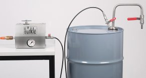 Sistema prelievo a pressione, per Solventi, tubo scarico fisso e flessibile