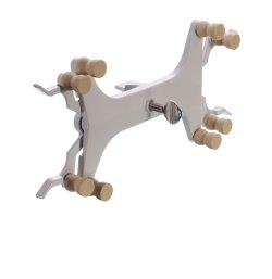 Pinze per 1 o 2 burette, modello ragno, in lega alluminio