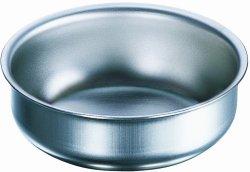 Capsule, in acciaio 18/10, fondo piatto, forma bassa